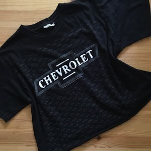 Vintage Chevy custom crop top graphic tee